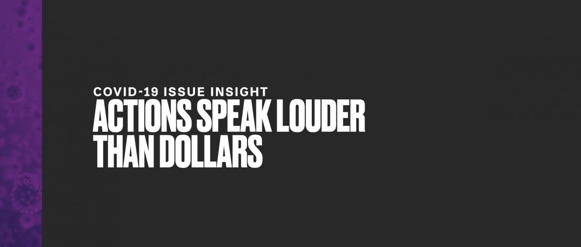 Actions Speak Louder Than Dollars